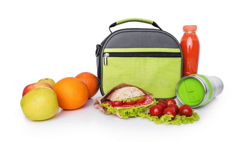 Lunch w torbie dla lunchu obrazy royalty free