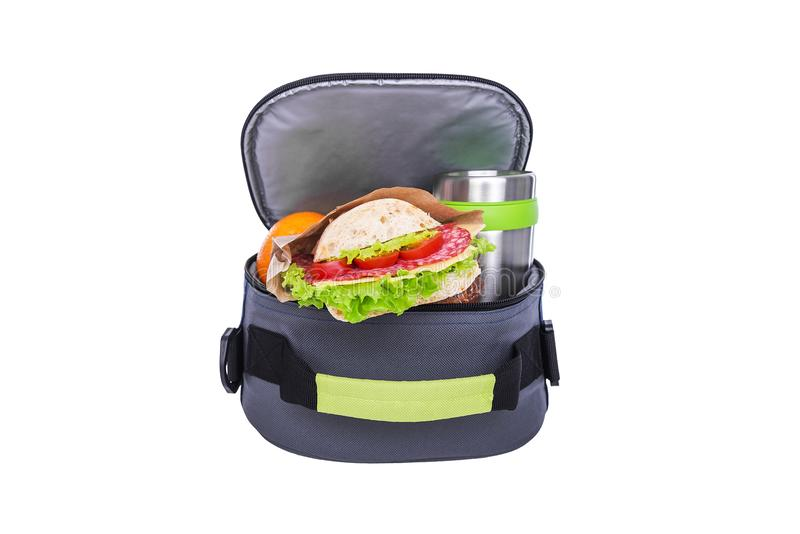 Lunch w torbie dla lunchu obrazy stock