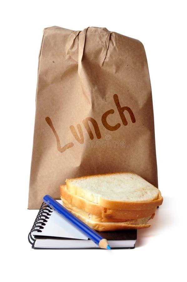 Lunch - weg stock afbeelding