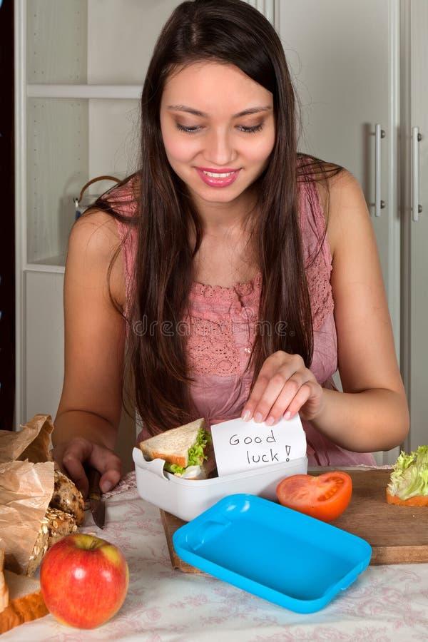 lunchbox życzenia zdjęcie royalty free