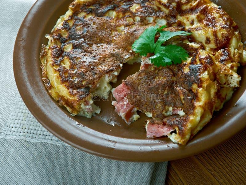 Lunchbox chorizo frittata royalty free stock images