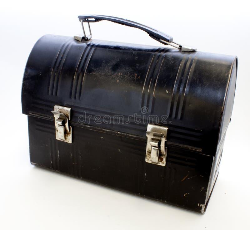 lunchbox czarny metal zdjęcie stock
