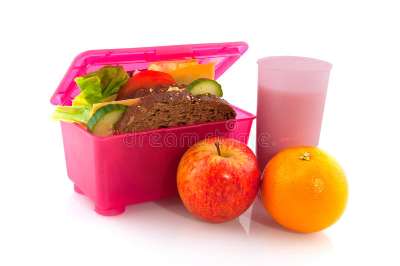 Lunchbox with healthy meal royalty free stock photography