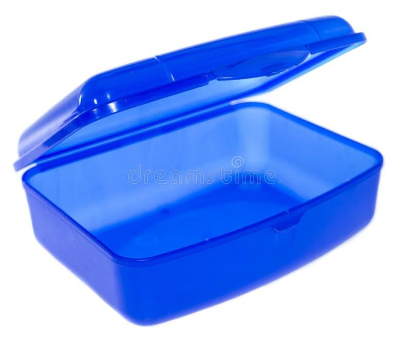 Lunchbox odizolowywający na bielu zdjęcia stock