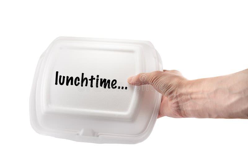 Lunchbox voor voedsel stock fotografie