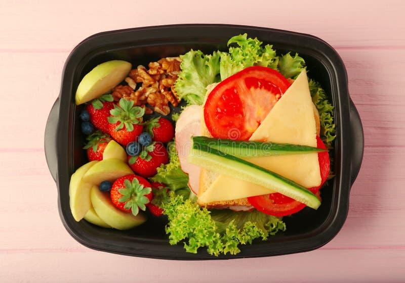 Lunchbox z gościem restauracji obraz royalty free