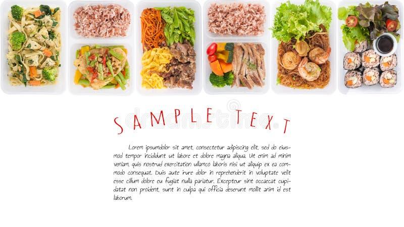 Lunchdoos op wit stock foto's