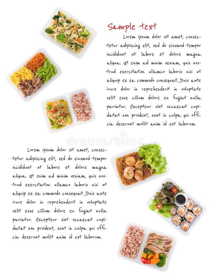Lunchdoos op wit stock afbeelding