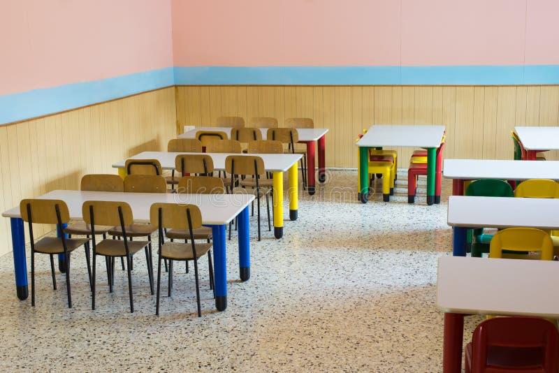 Lunchroom du réfectoire du jardin d'enfants image libre de droits