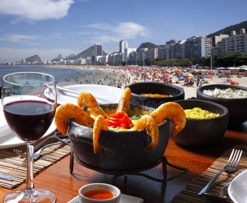 Lunchtabell på Rio de Janeiro arkivfoto