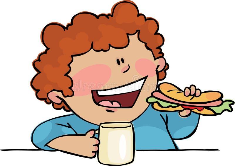 lunchu czas ilustracja wektor