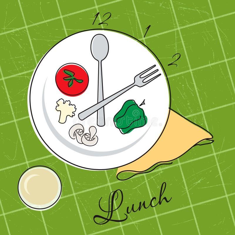 lunchu czas ilustracji