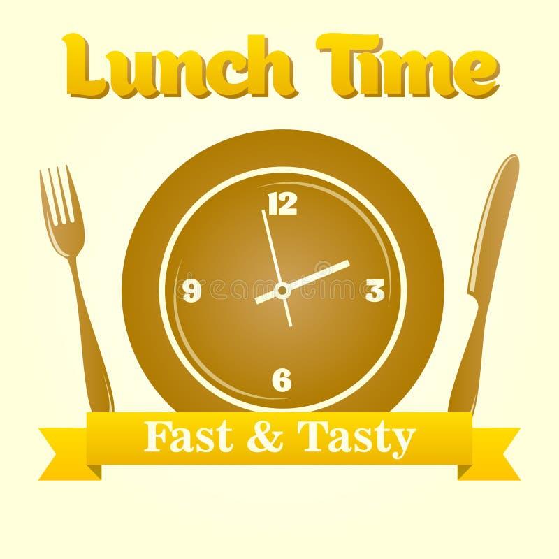 Lunchu czasu ilustracja ilustracja wektor