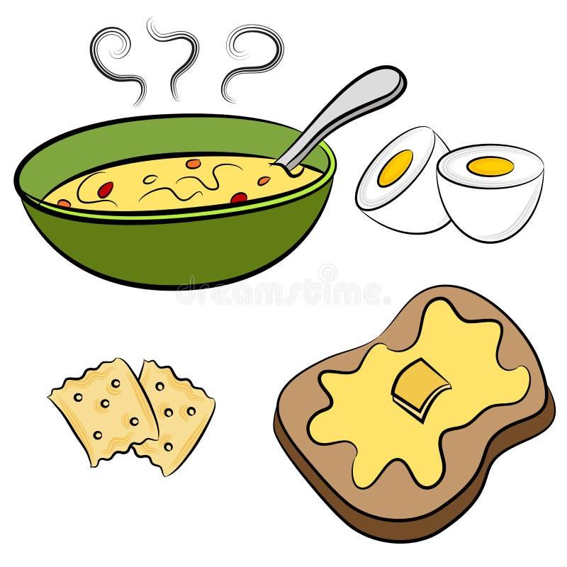 Lunchu jedzenie ilustracji