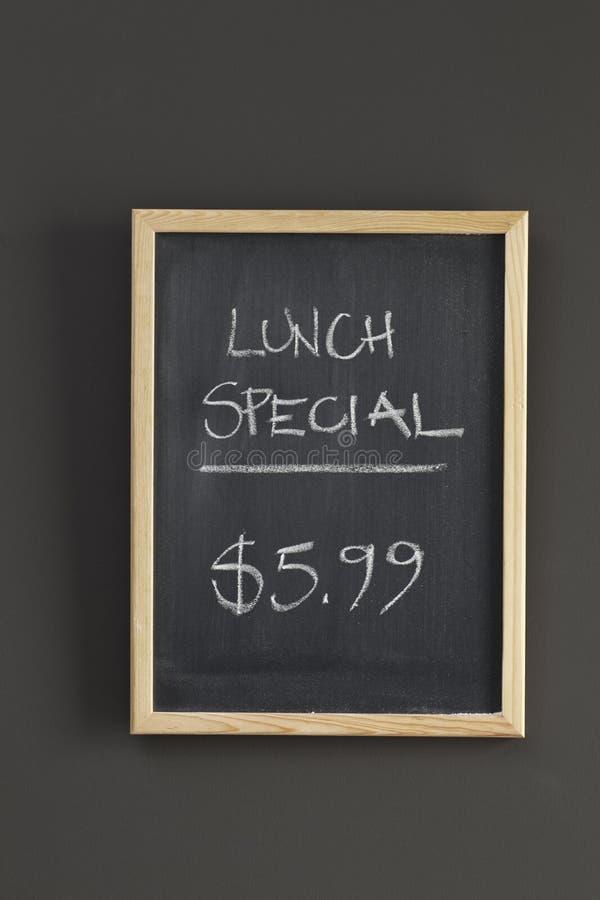 lunchu menu znaka dodatek specjalny fotografia royalty free