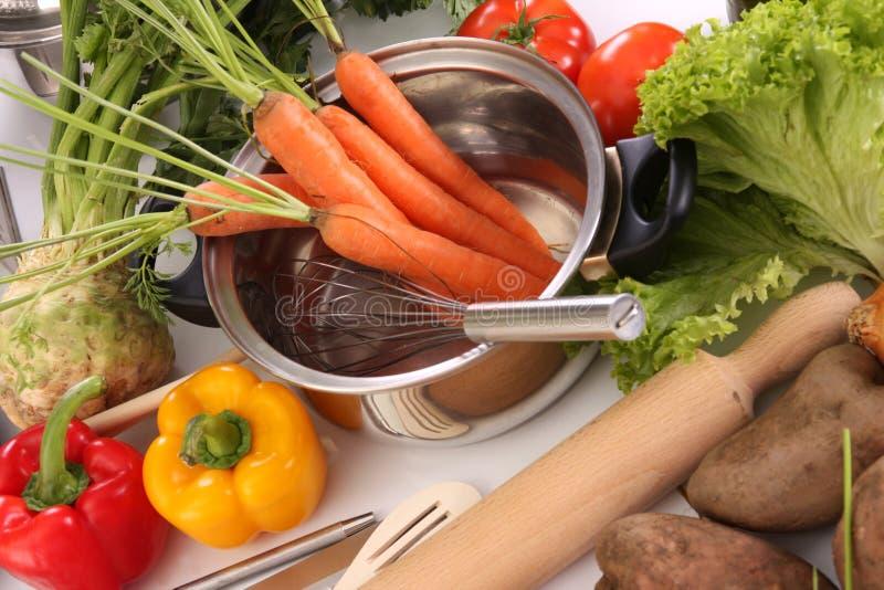 lunchu narządzania warzywa zdjęcie royalty free