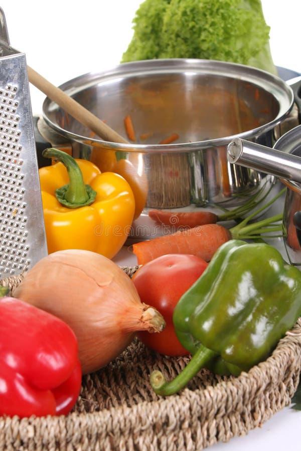 lunchu narządzania warzywa zdjęcia stock