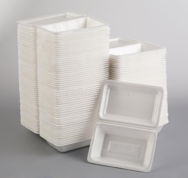 lunchu pudełkowaty styrofoam fotografia royalty free