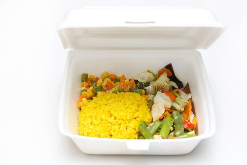 Lunchu styrofoam pudełko zdjęcie stock