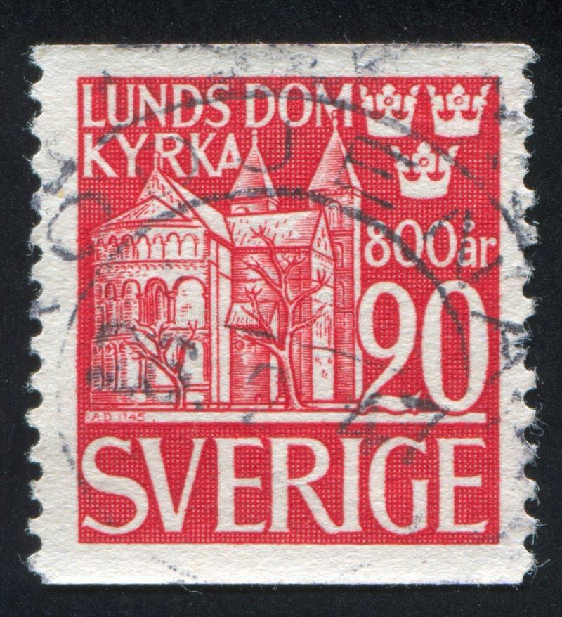 Lund-Kathedrale stockfotos