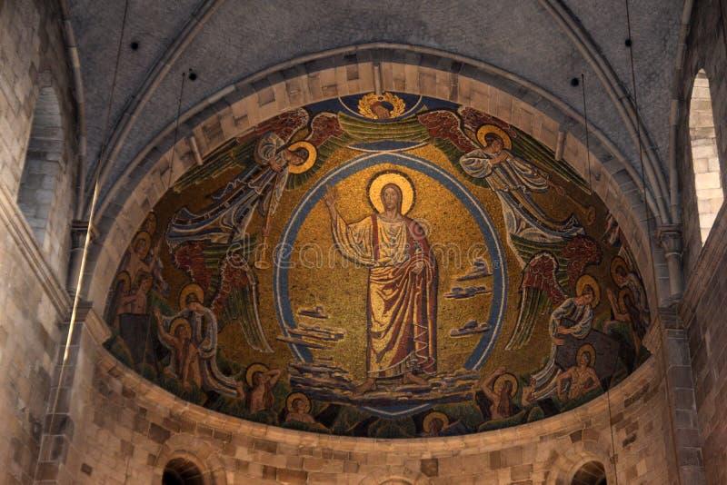 Lund, Suède 7 novembre 2018 L'abside dans la cathédrale de Lund images libres de droits