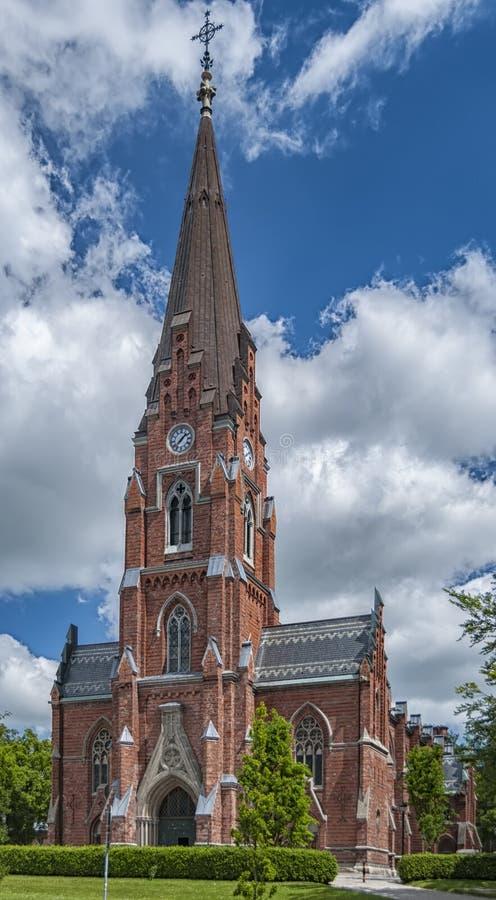 Lund toute l'église de saints photographie stock libre de droits