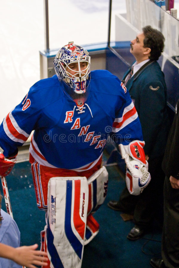 Lundquist leaves the Ice stock photo