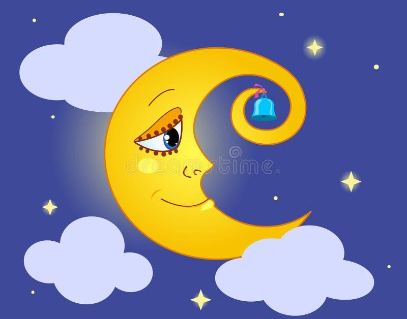 Lune. illustration stock