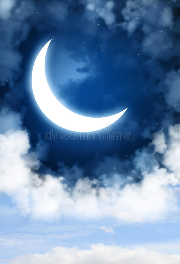 Lune illustration libre de droits