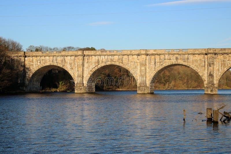 Lune akwedukt, Lancaster kanał nad Rzecznym Lune obrazy royalty free