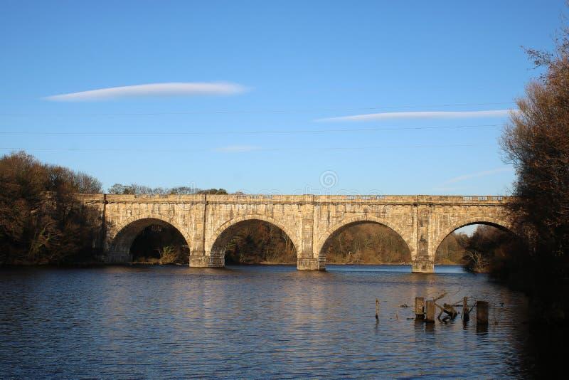 Lune akwedukt, Lancaster kanał nad Rzecznym Lune zdjęcie royalty free