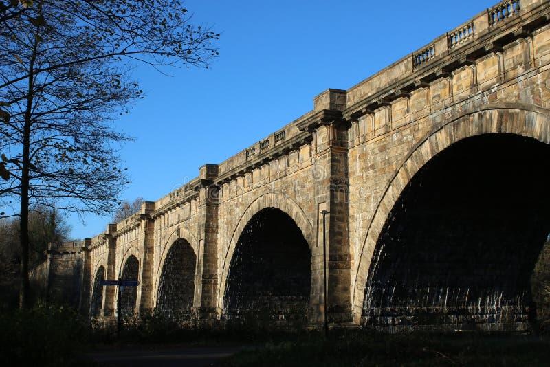 Lune akwedukt, Lancaster kanał nad Rzecznym Lune obrazy stock