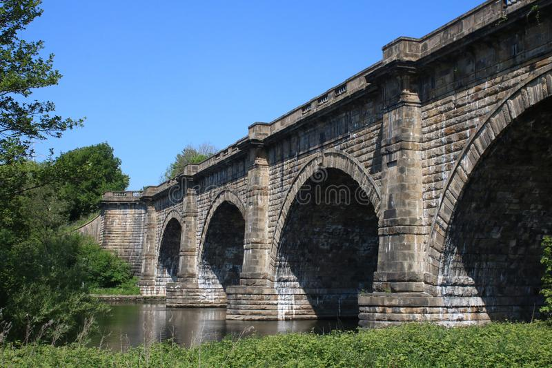 Lune akwedukt, Lancaster kana? nad Rzecznym Lune obraz royalty free