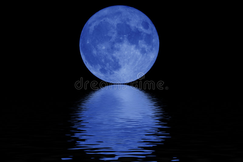 Lune bleue illustration stock