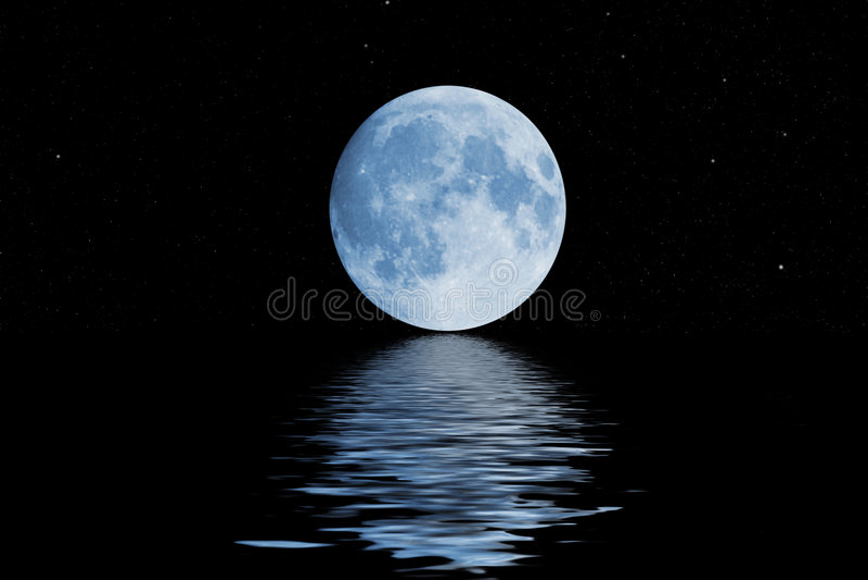Lune bleue image stock