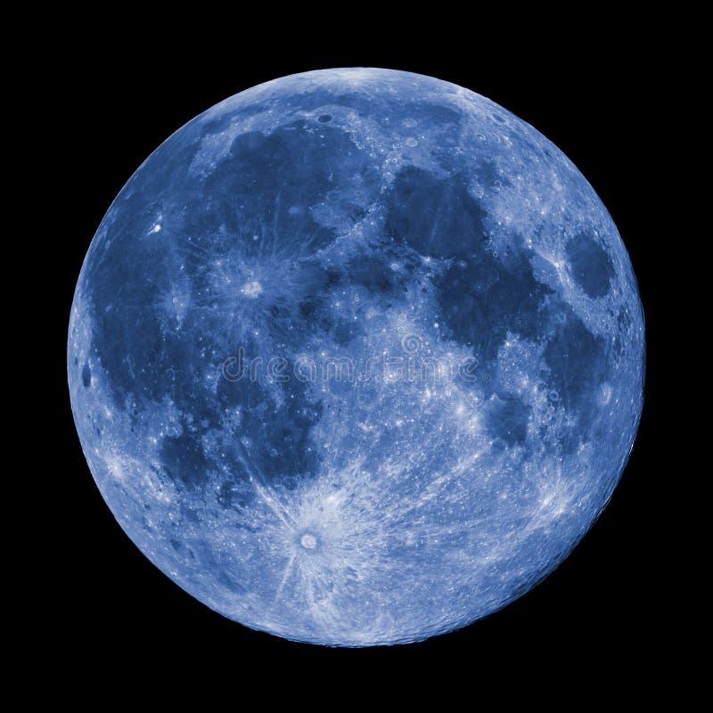 Lune bleue superbe images libres de droits