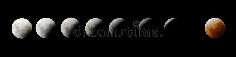 lune d'éclipse photographie stock libre de droits