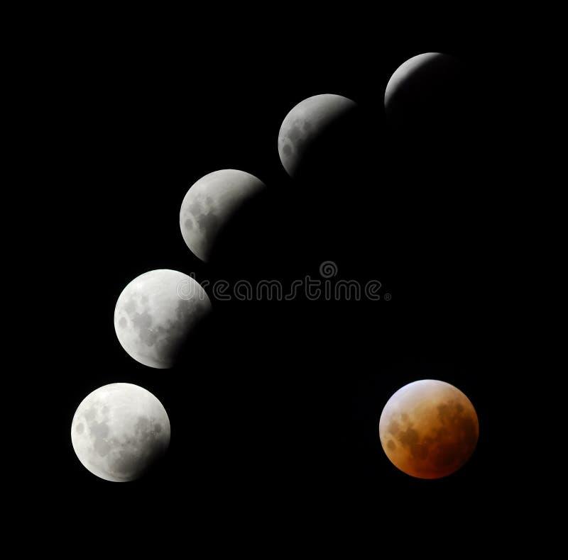 lune d'éclipse photo stock