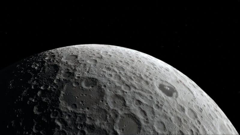 Lune dans l'espace extra-atmosphérique, surface De haute qualité, résolution, 4k Éléments de cette image meublés par la NASA illustration stock