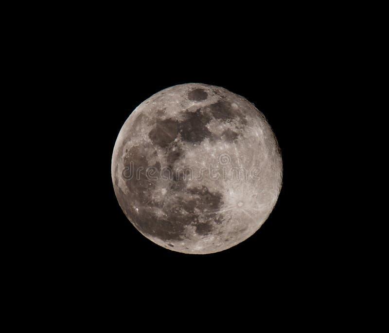 Lune dans le ciel de nuit photo stock