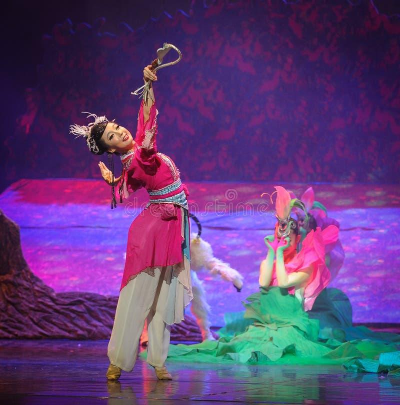 Lune de ballet de fouet-Hui de berger au-dessus de Helan images stock