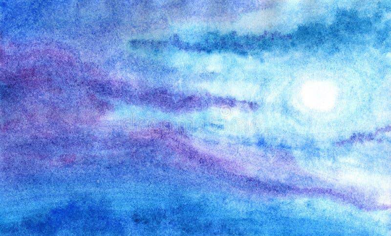 Lune de conte de fées la nuit illustration stock