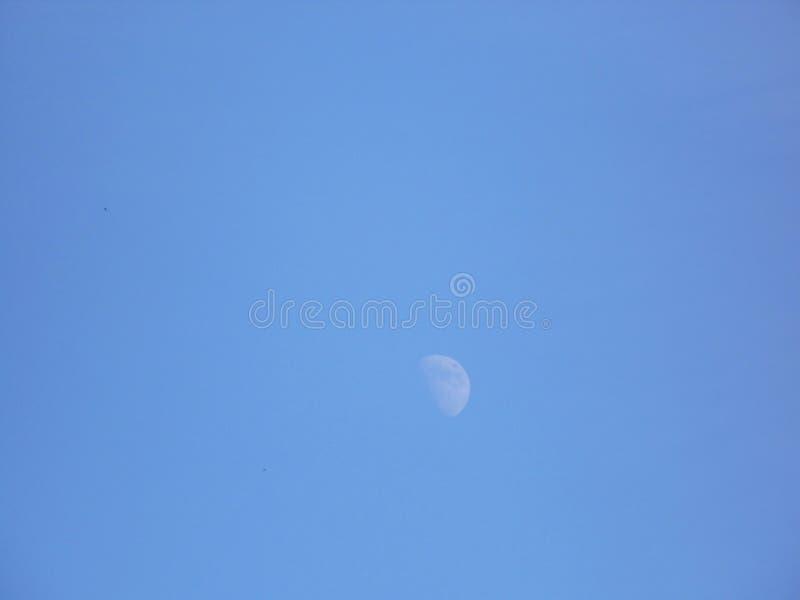 Lune de jour photo stock