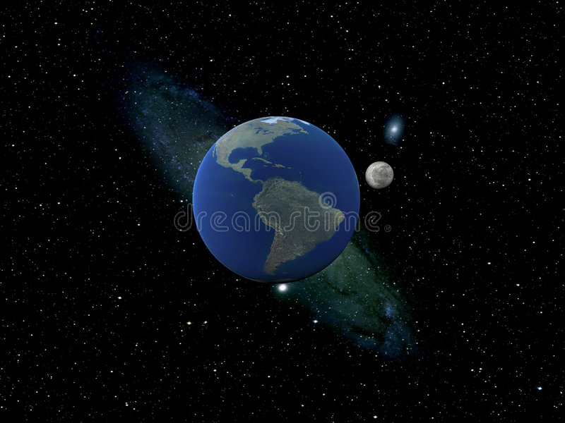 lune de la terre illustration stock