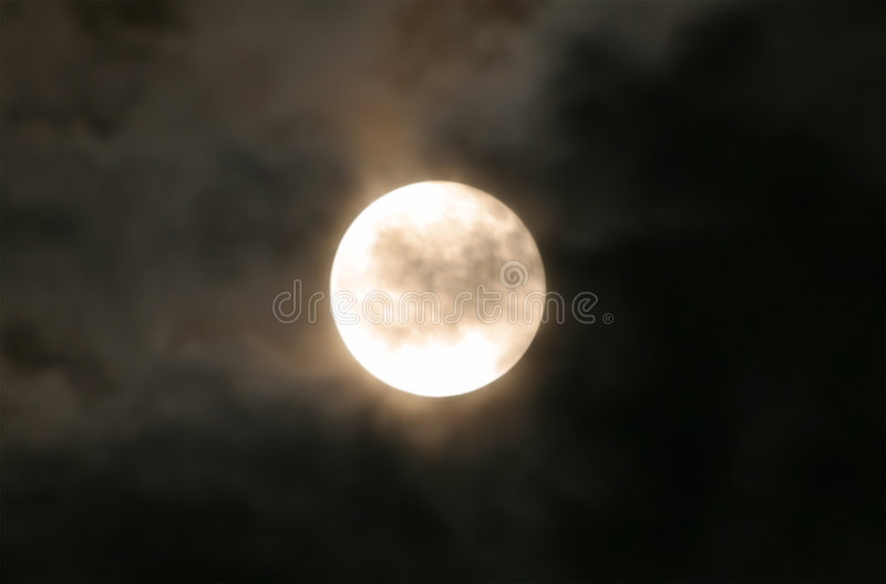 Lune de moisson.   photo libre de droits