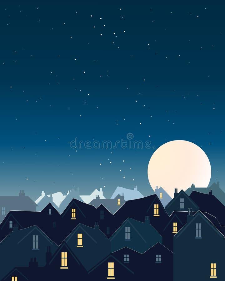 Lune de moisson illustration de vecteur