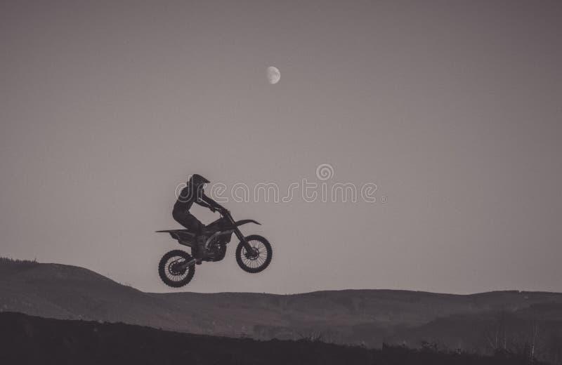 Lune de motocross photos stock