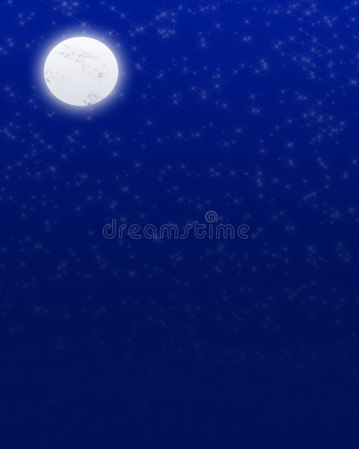 Lune de nuit illustration libre de droits