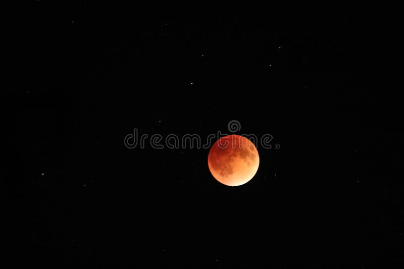 Lune de sang photo stock