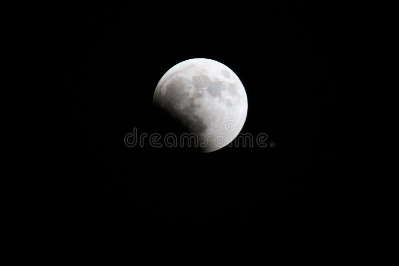 Lune 2018 de sang : La plus longue éclipse lunaire totale du siècle en juillet, opposition de planète de lune et de Mars Nuit Pho images stock